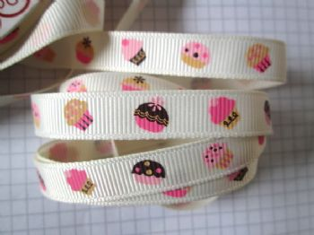 9mm Grosgrain Cupcake Ribbon